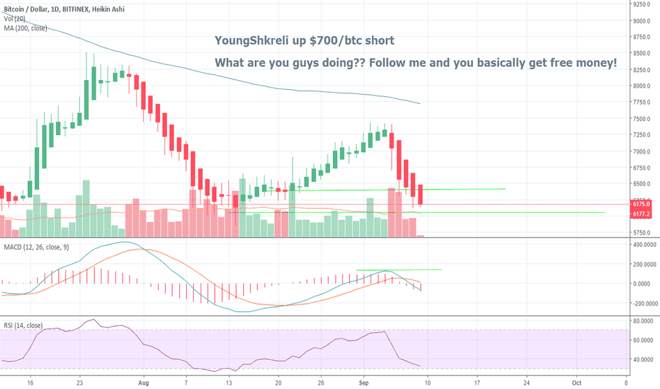 BTCUSD: YoungShkreli is up $700/btc short. Read his update here.
