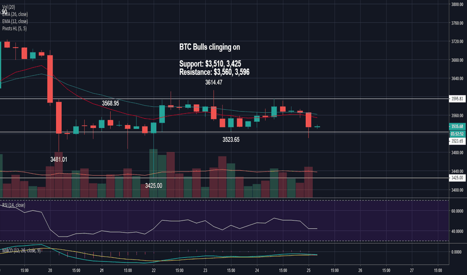 BTCUSD: BTC Bulls Clinging On