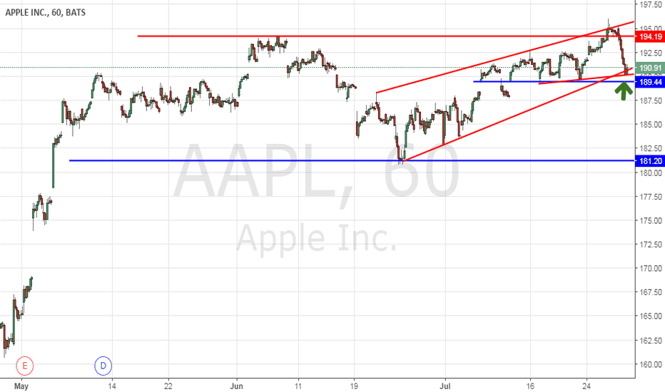 AAPL: Bullish Pattern If Holds support strong support is possible