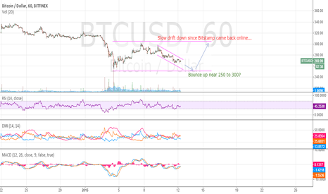 BTCUSD: Bounce at 250 to 300?