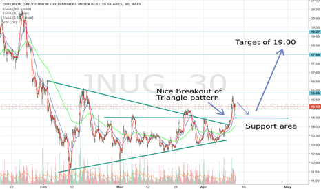 JNUG: JNUG Triangle Breakout