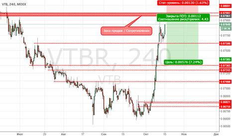 VTBR: ВТБ продажа от сопротивления 0.7960