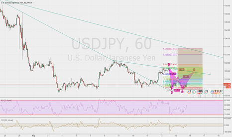 USDJPY: possible pattern at 1 h possible inversion at point d