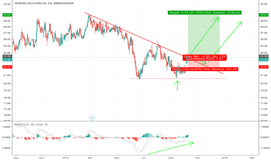 SNSL3: BUY SNSL3 On double bottom and breakout from negative trend line