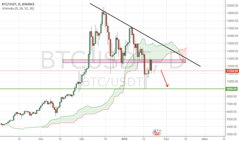 BTCUSDT: BTCUSD baisse possible à court terme.