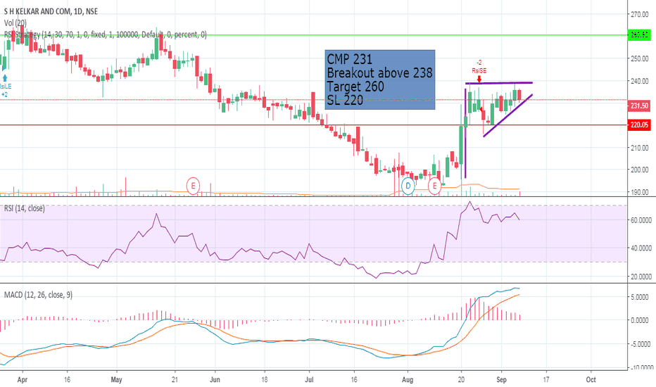 SHK: SH KELKAR - Swing Trade Idea !