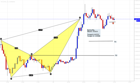 BTCUSD: Bitcoin with butterfly pattern short