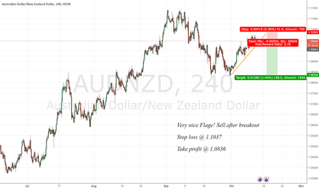 AUDNZD: Nice Flag, waiting for Breakout