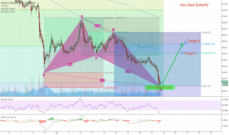 BTCUSD: Non Ideal Butterfly - Harmonic - BTC Hour