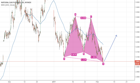 NG1!: Natural Gas Bullish Harmonic Pattern completed
