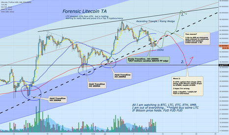 LTCUSDT: Forensic Litecoin TA - Bitcoin MUST HOLD.. or else
