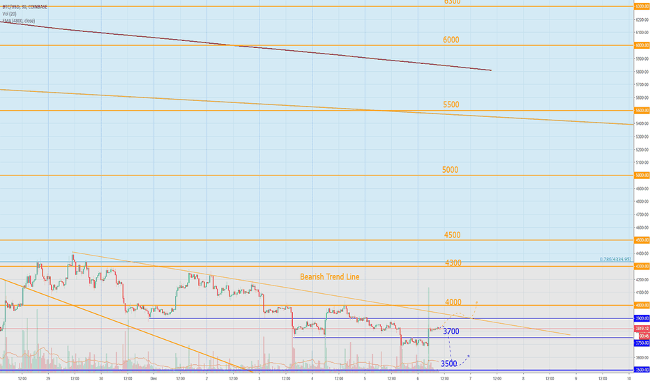 BTCUSD: Bitcoin Today: 2019 - rise for BTC, death for alts?