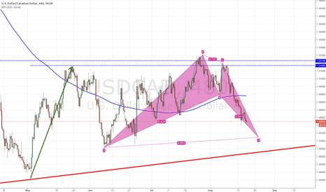 USDCAD: USD/CAD - Bullish Bat ahead!