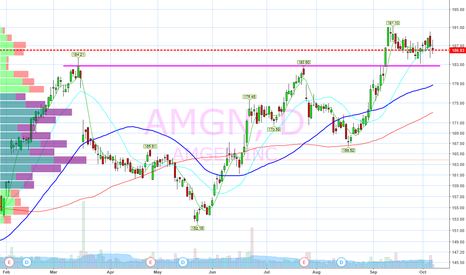 AMGN: Flagging above support