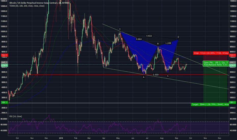 XBTUSD: Long Term Bearish Outlook