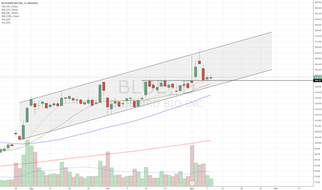 BLUE: PB to 10sma and previous resistance now support. Inside day