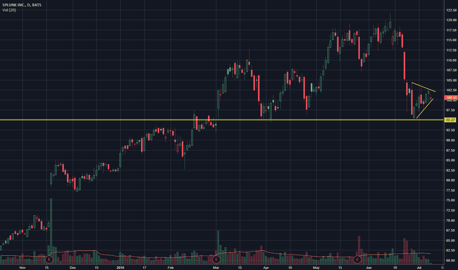 SPLK: Textbook Bear Flag
