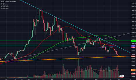 BTCUSDT: A crucial trend line for BTC to be tested