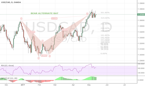 USDCAD: USDCAD  1D  Bear Alternate BAT in play