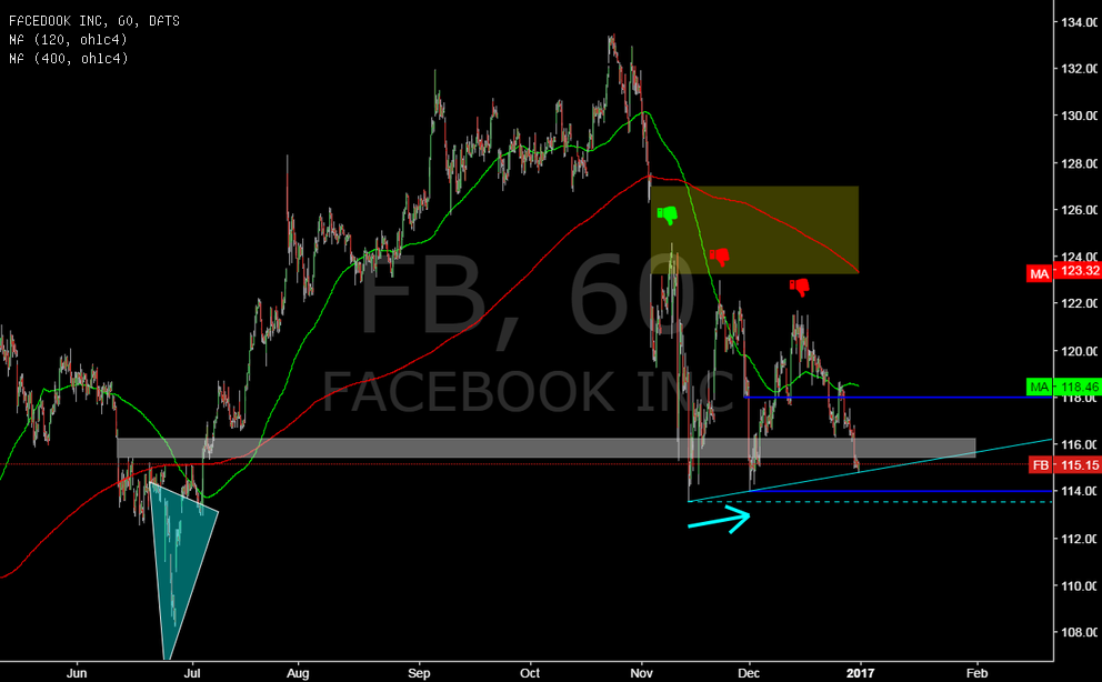 FB @ 1h @ will gap around 116 hold (after juli`16 reversal) ?