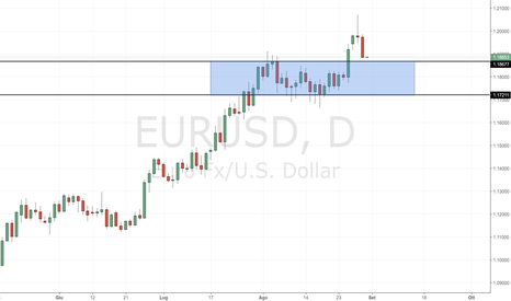 EURUSD: EUR/USD: nuovo test del supporto in area 1.19000