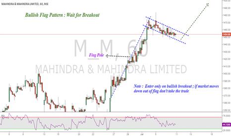 M_M: Bullish Flag Pattern : Mahindra&Mahindra