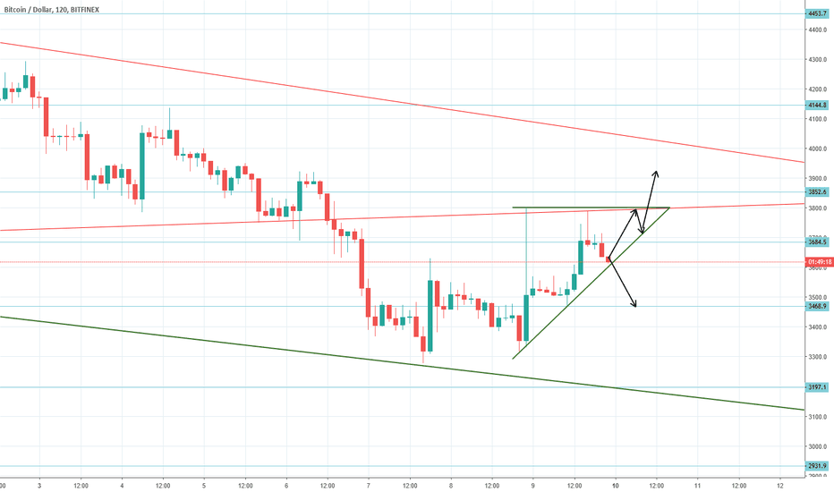 BTCUSD: BTCUSD sitting at support, potential ascending triangle breakout