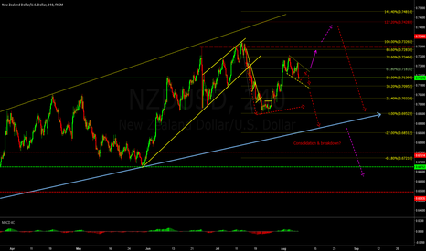 NZDUSD: Consolidation & breakdown?
