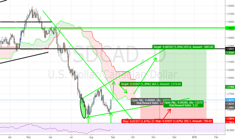 USDCAD: uc double bottom and megaphone pattern