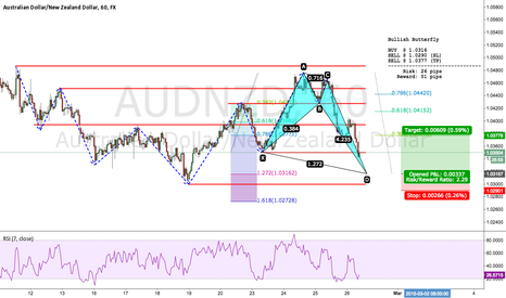 AUDNZD: AUDNZD LONG - Potential Bullish Butterfly