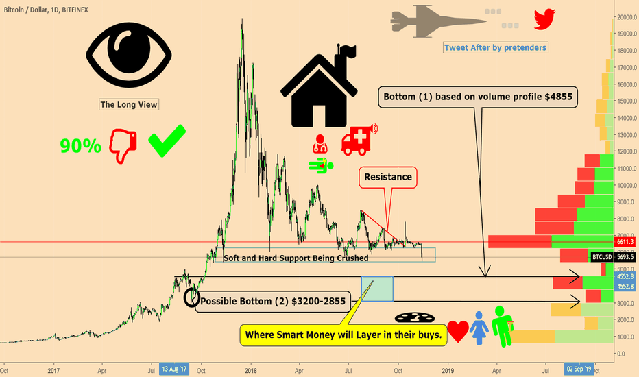 "BTCUSD:  ""The Long View"" Where The Smart Money is going to buying."