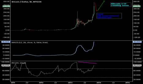 BTCUSD: Long Term Bull before US Government Shutdown and Bitcoin ETF