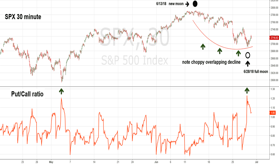 SPX: Put/Call Ratio May Have Signaled SPX Bottom