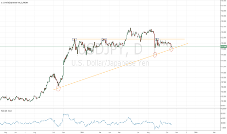 USDJPY: USDJPY held by bullish year long trendline, long to 121.50