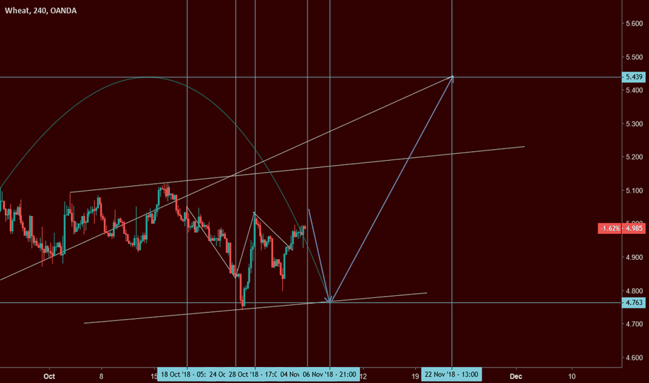 WHEATUSD: Harmonic Cycle timing wheat: Updated with price