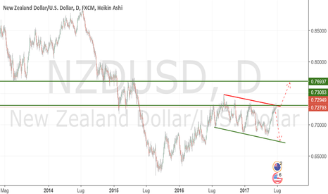 NZDUSD: NZDUSD Long da 0.73000 a 0.77000 per debolezza dollaro