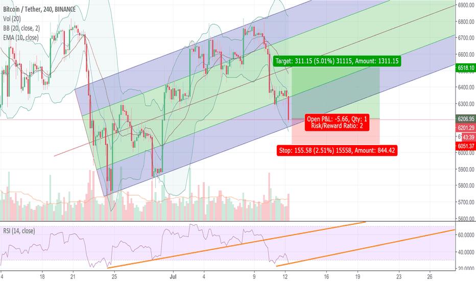BTCUSDT: Bitcoin in a falling channel
