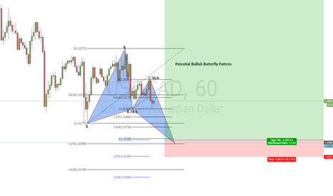 USDCAD: Potential Butterfly Pattern on USD/CAD 1H