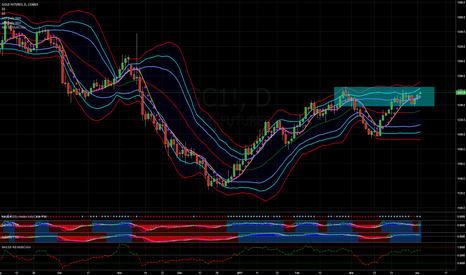 GC1!: Gold Rises to Top of Month Long Range