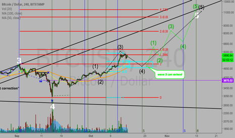 BTCUSD: Bitcoin 4h chart...could it be?