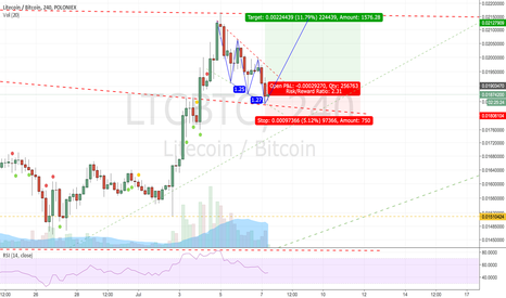 LTCBTC: Small long due to possible bull-flag