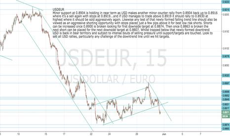 USDEUR: USDEUR: Update Look to sell Dollar rallies