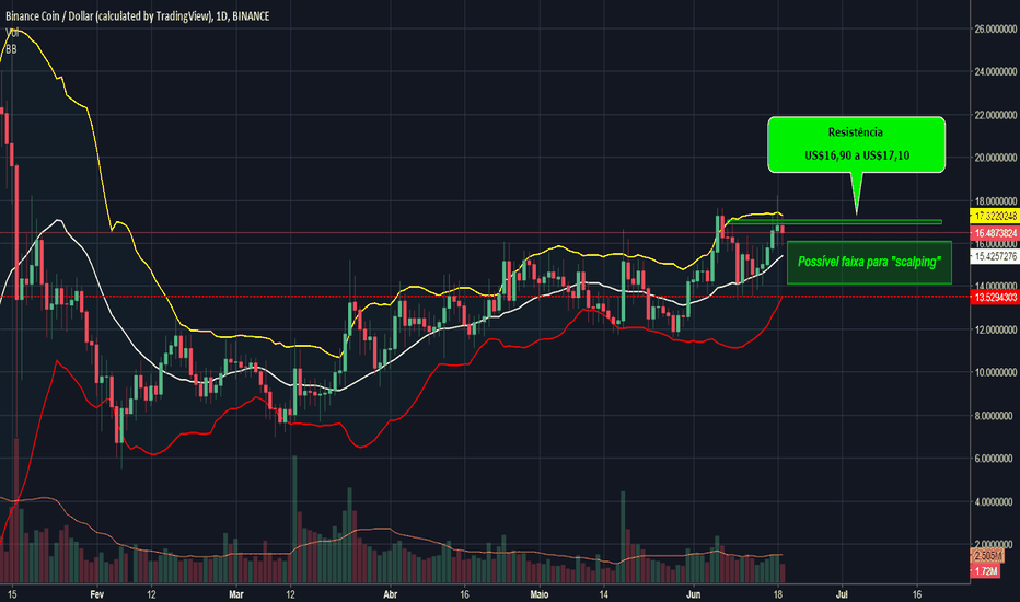 BNBUSD: Análise - (BNB/USD) - Scalping e Position
