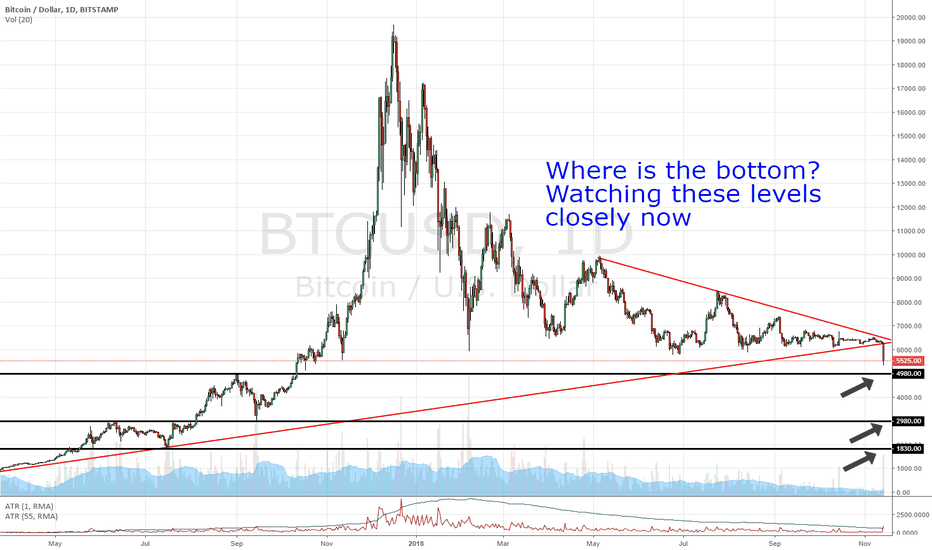 BTCUSD: BITCOIN Support levels - Where is the bottom?