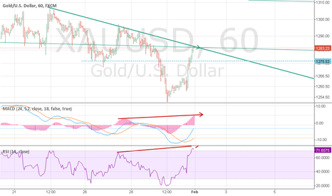 XAUUSD: Doe's divergence in rsi and macd work?