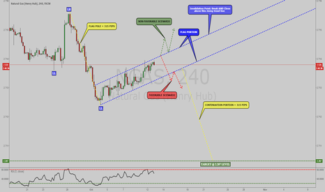 NGAS: NGAS: BEARISH FLAG PATTERN FORMED, WAITING FOR BREAKOUT [4HR]!!!