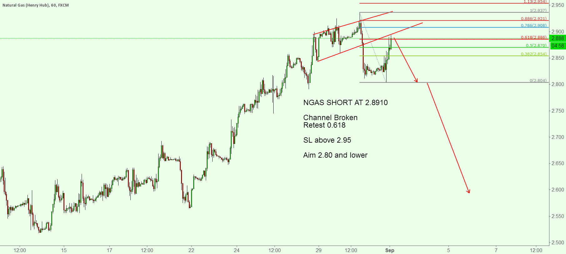 NGAS SHORT THE PULL BACK