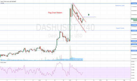 DASHUSDT: Dash Flag Chart Pattern