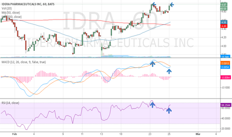 IDRA: IDRA negative divergance on 1hr MACD and RSI