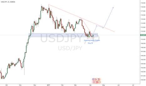 USDJPY: Nice W pattern, long up to 118